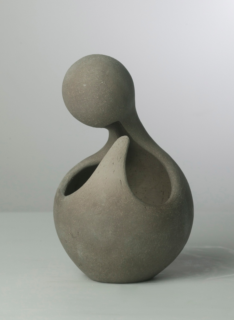 "Unfired Abstract Clay Figure, 5"" W x 9"" H, 2009"