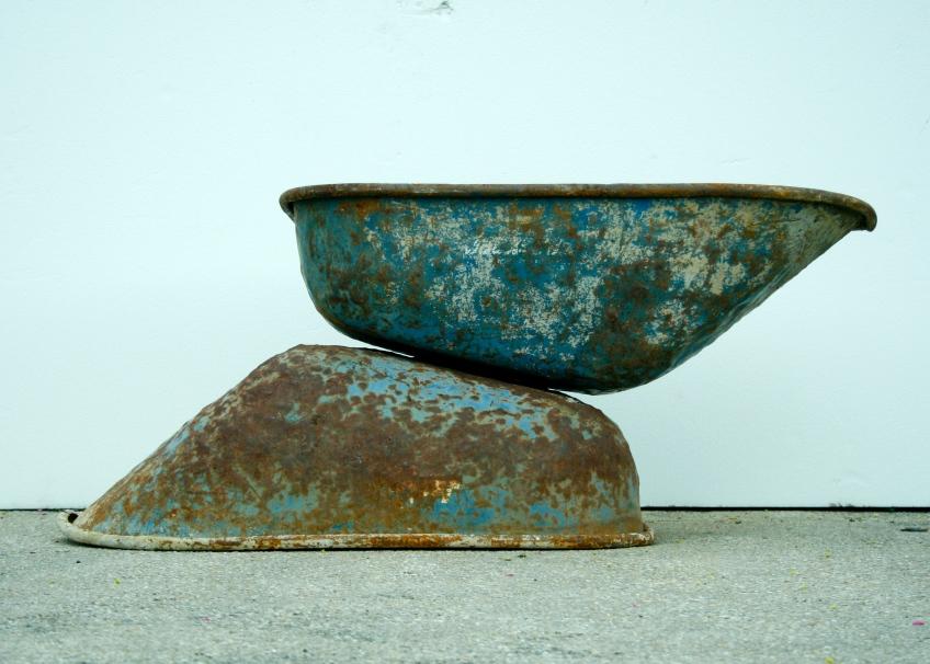 """Steel, Concrete 35""""W x 28""""H x 5'L 2012"""